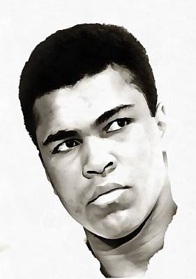 Marcelli Painting - Muhammad Ali by Tracey Harrington-Simpson