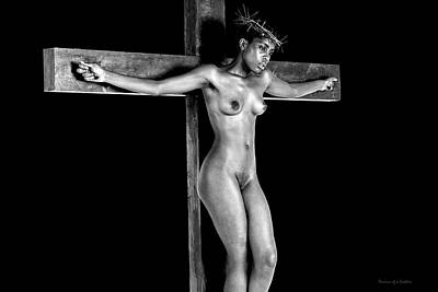 Mujer Crucificada Print by Ramon Martinez