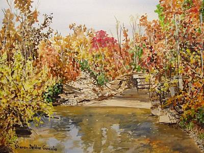 Arkansas Painting - Mulberry River In Fall by Sharon  De Vore