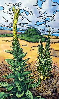 Mauna Kea Painting - Mullein by Fay Biegun - Printscapes