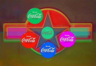 Landscape Digital Art - Multi Cola Candy by Charles Stuart