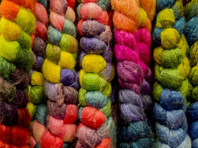 Multicolored Roving Print by Jean Noren