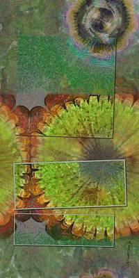 Merging Painting - Multilobulated Placing Flowers  Id 16165-151126-00821 by S Lurk