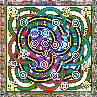 Multiple Hula Hoop Circles Colorful Abstract Art Original by Navin Joshi