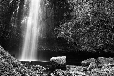 Multnomah Falls Base Print by Charmian Vistaunet