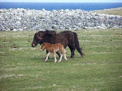 Photograph - Mum And Daughter On A Windy Day by George Leask
