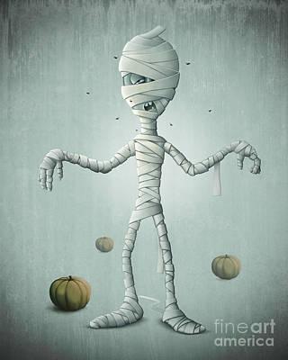 Mummy Halloween Print by Giordano Aita