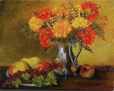 Mums And Fruit Print by Aurelia Nieves-Callwood
