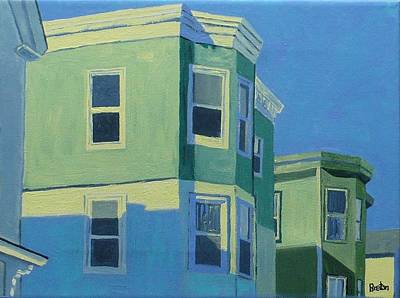 Maine Painting - Munjoy Shadows by Laurie Breton