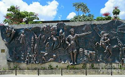 Mural Depicting The History Of Cuba At Parque Peralta Original by John Malone