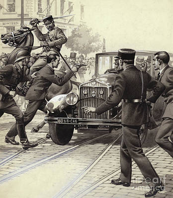 Murder Of King Alexander Of Yugoslavia Print by Pat Nicolle