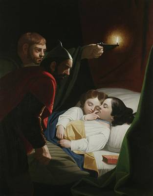 1833 Painting - Murder Of The Princes by George Whiting Flagg