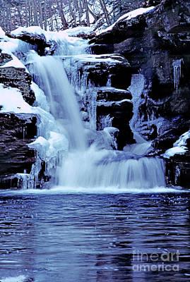 Murray Reynolds Falls - Winter Print by Rich Walter