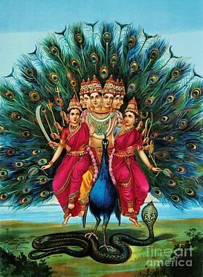 Cobra Painting - Murugan by Pg Reproductions