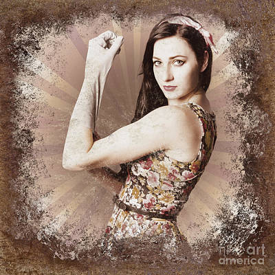 Muscle And Strength Pinup Poster Girl Print by Jorgo Photography - Wall Art Gallery