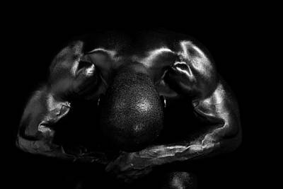 Muscle Man At Rest Print by Val Black Russian Tourchin