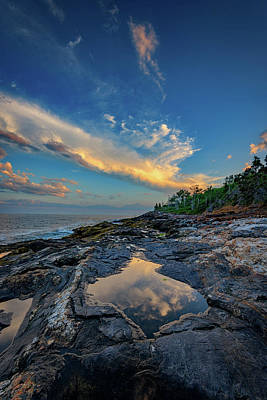 Cumulus Photograph - Muscongus Bay Reflections by Rick Berk