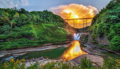 Cumulus Photograph - Mushroom Cloud Over Upper Falls by Mark Papke