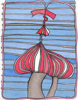 Onion Drawing - Mushroom Power by Sandra Church