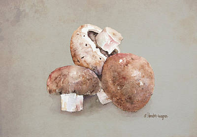 Fungi Painting - Mushrooms by Arline Wagner