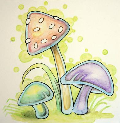 Mushrooms Original by WIlliam Gushue
