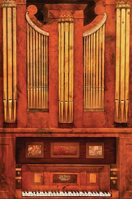 Music - Organist - Skippack  Ville Organ - 1835 Print by Mike Savad