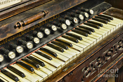 Pump Organ Photograph - Music - Pump Organ - Antique by Paul Ward