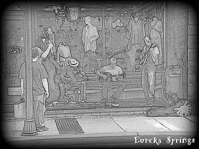 Eureka Springs Digital Art - Music Eureka by Lesli Sherwin
