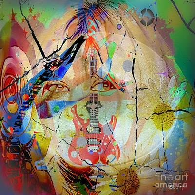 Digital Art - Music Girl by Eleni Mac Synodinos
