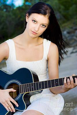 Lyrics Photograph - Music Girl by Jorgo Photography - Wall Art Gallery