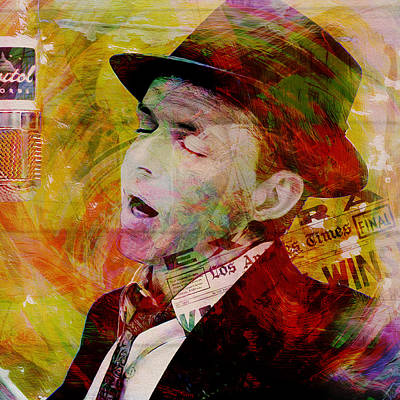 Ratpack Painting - Music Icons - Frank Sinatra Ill by Joost Hogervorst