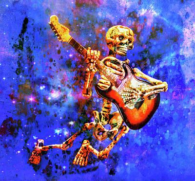 Rock N Roll Digital Art - Music In The Air by Jeff Gettis