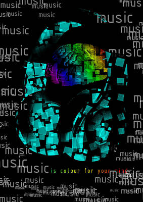 Music Is Color For Your Mind Original by Irina Totolici