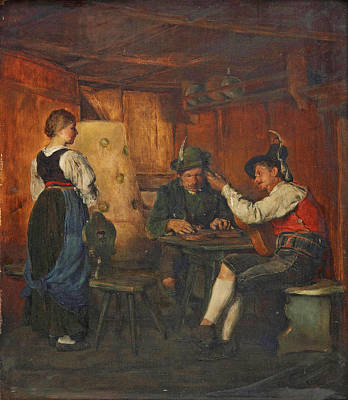 Alois Gabl Painting - Music Lessons by Alois Gabl