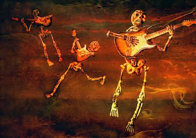 Rock N Roll Digital Art - Music Of The Souls by Jeff Gettis