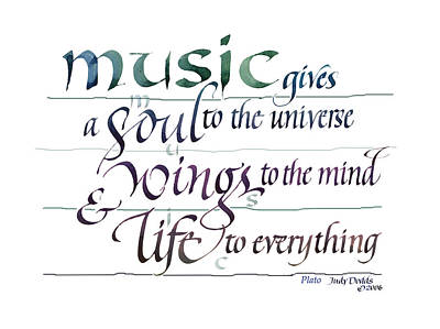 The Universe Painting - Music Soul by Judy Dodds