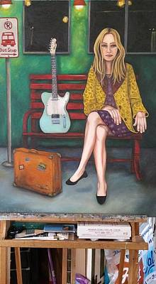 Gig Painting - Music Traveler 2 Finished  by Leah Saulnier The Painting Maniac