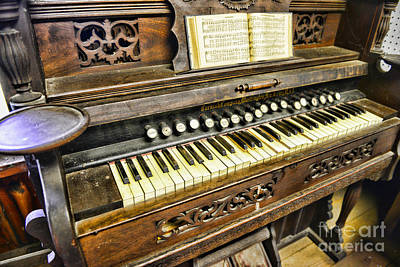 Pump Organ Photograph - Music - Wooden Pump Organ  by Paul Ward