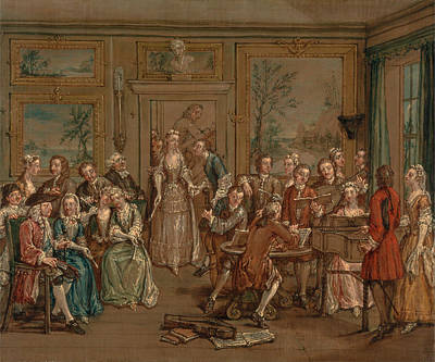 Marcellus Laroon The Younger Painting - Musical Conversation by Marcellus Laroon the Younger