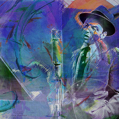 Ratpack Painting - Music Icons - Frank Sinatra I by Joost Hogervorst
