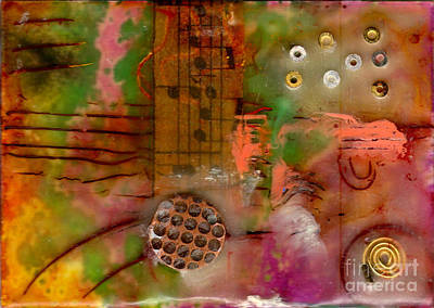 Musical Notes Print by Angela L Walker