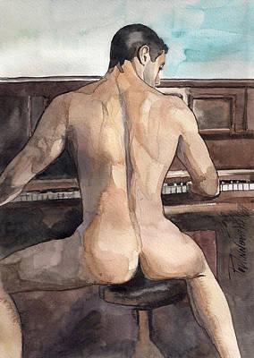 Musician Print by Yuliya Podlinnova