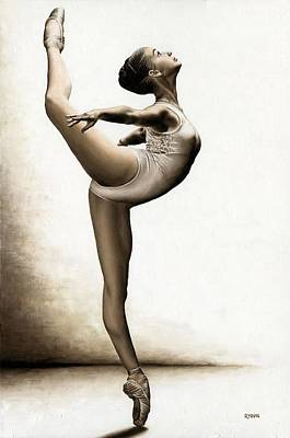 Athletic Painting - Musing Dancer by Richard Young