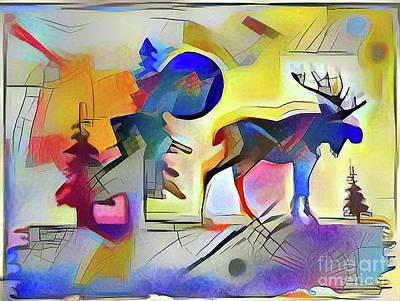 Muskoka Abstract Print by Anthony Djordjevic