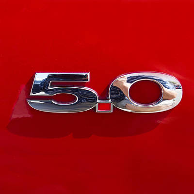 Classic Photograph - Mustang 5 0 by J Darrell Hutto