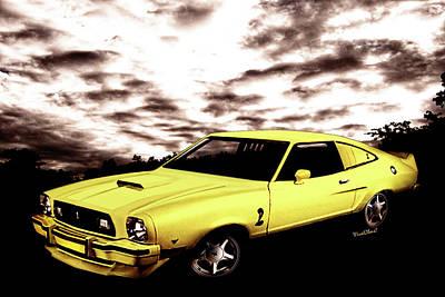 Cobra Mixed Media - Mustang II Cobra II - Second Generation 1973-1978 by Chas Sinklier