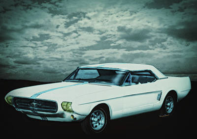 Mustang Digital Art - Mustang II Concept 1963 by Chas Sinklier