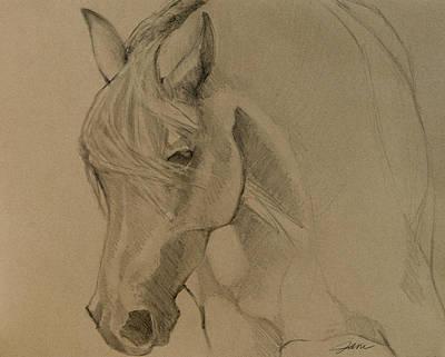 Mustang Morning - Grey Version Print by Jani Freimann