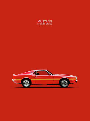 Mustang Shelby Gt350 Print by Mark Rogan
