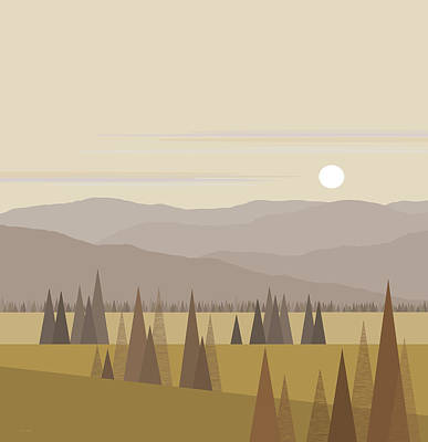 Muted Landscape Print by Val Arie